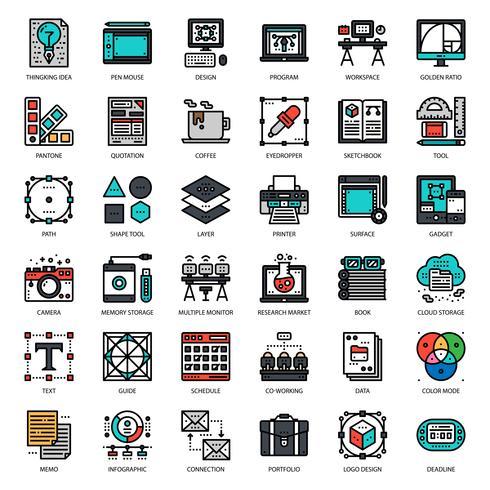 grafisch ontwerper pictogram vector