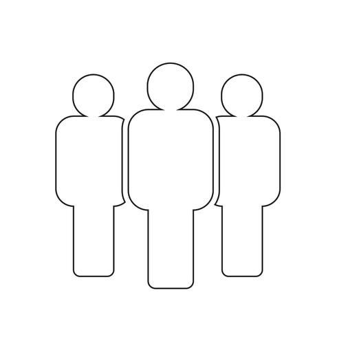 groep mensen pictogram vector