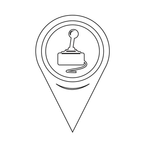 Kaart aanwijzer Spelbesturing icoon vector