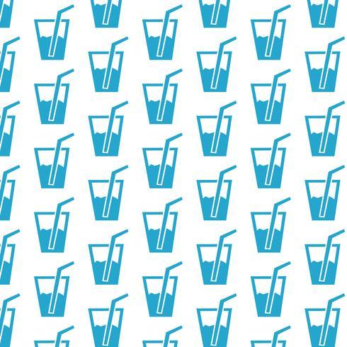 drink patroon achtergrond vector