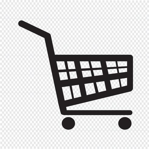winkelwagen pictogram vector