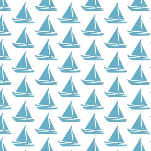 Zeilboot patroon achtergrond vector