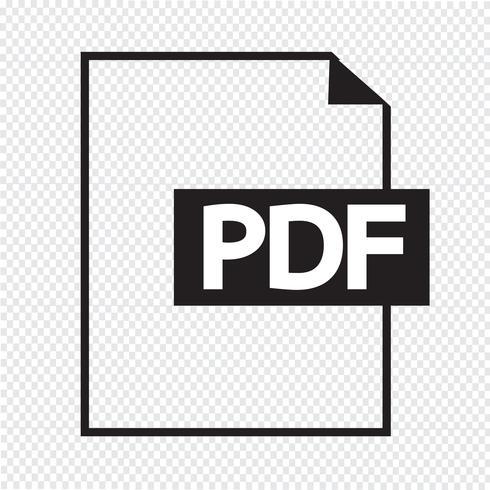 PDF pictogram symbool teken vector