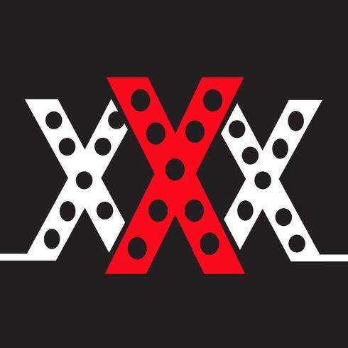 XXX pictogram symbool teken vector