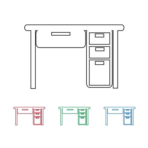Tafel Office-pictogram vector