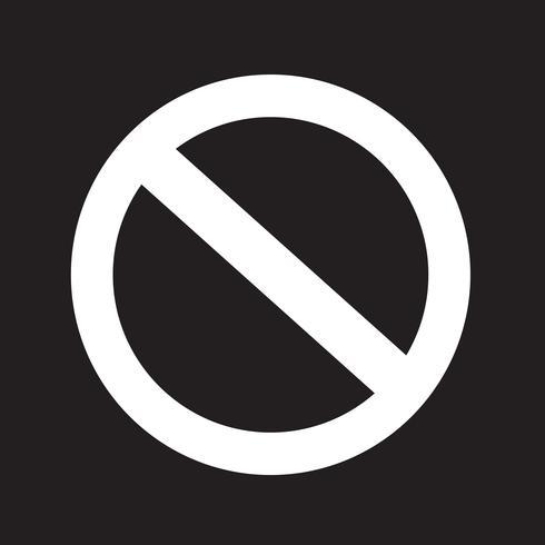 leeg verbod symboolpictogram vector