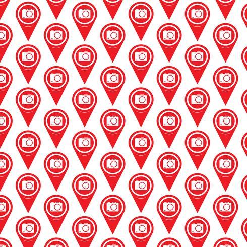Patroon achtergrond Kaartpictogram aanwijzer vector