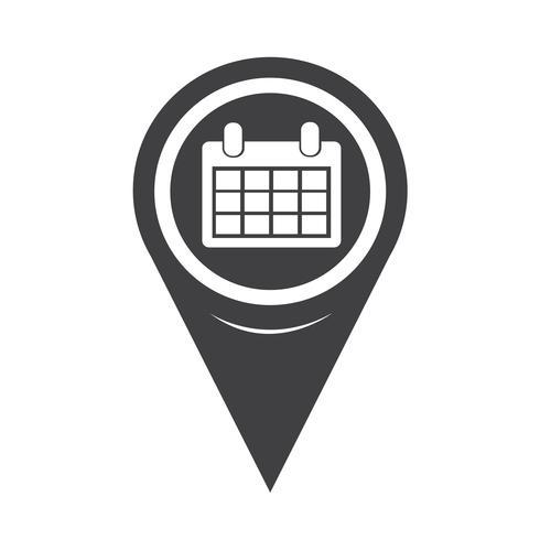 Kaartaanwijzer kalenderpictogram vector