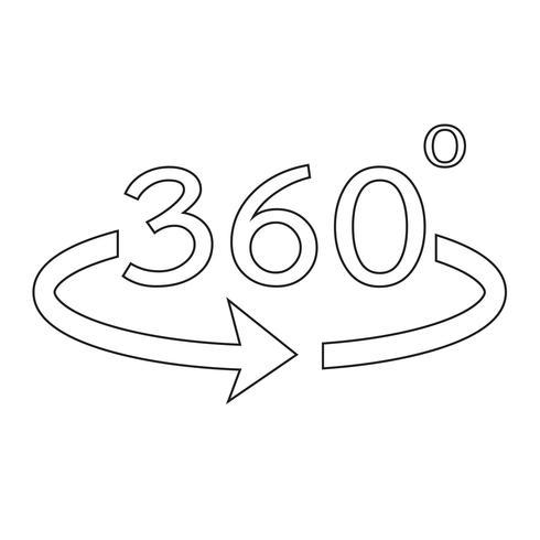 Hoek 360 graden pictogram vector