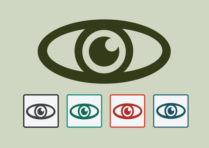 Oogpictogram symbool teken vector