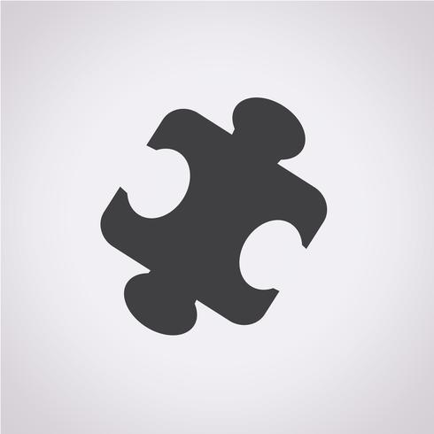 puzzel pictogram symbool teken vector