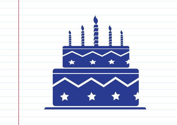 Verjaardagstaart pictogram vector