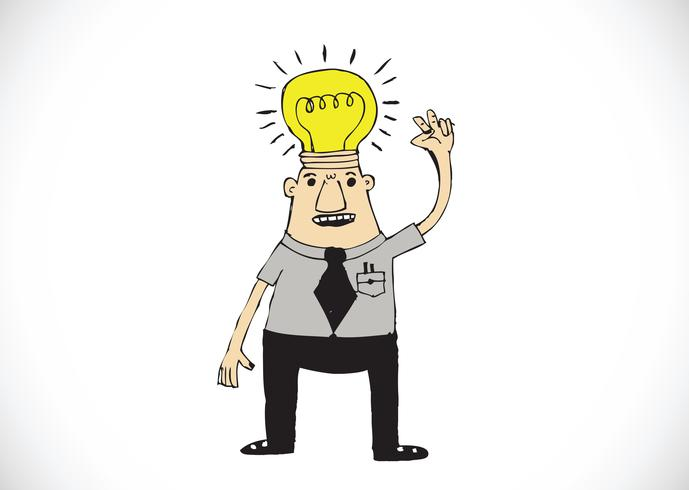 Cartoon man denken stijl illustratie vector