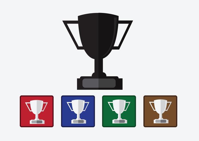kampioenen beker pictogram in illustratie idee ontwerp vector