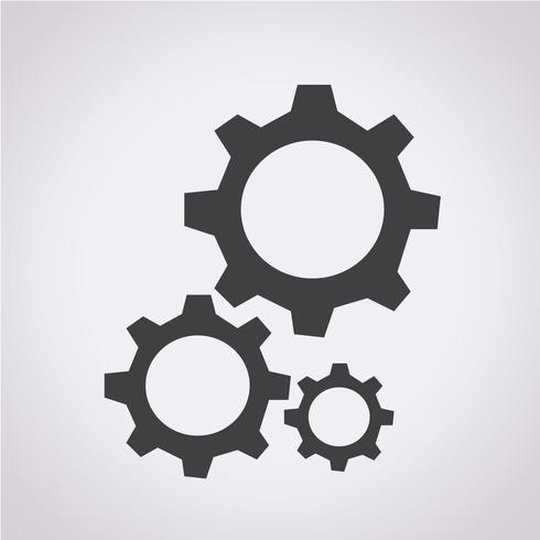 Gear pictogram symbool teken vector