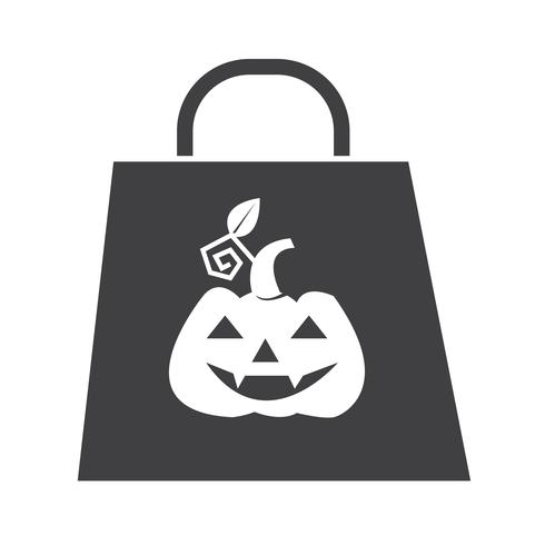 Halloween tas pictogram vector