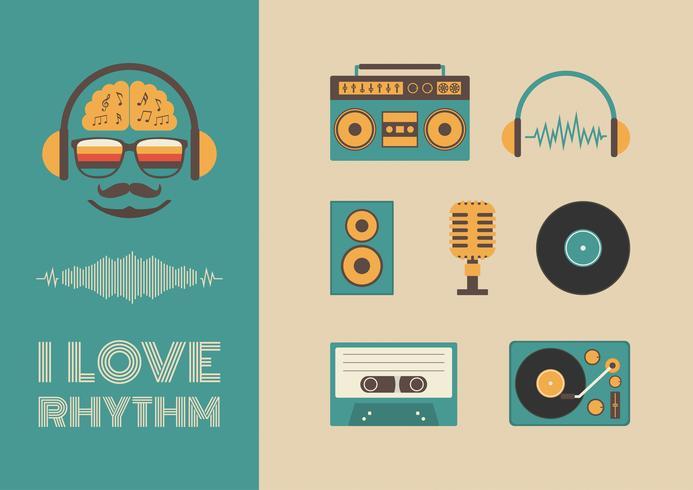 geluid en ritme vector