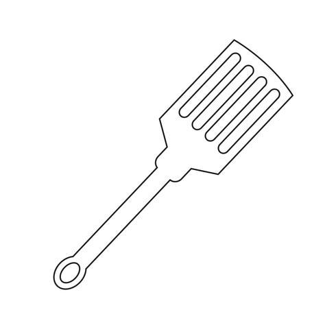 keuken spatel pictogram vector