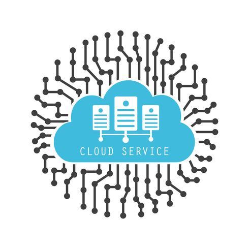 digitale cloud server vector