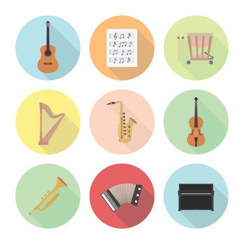 klassieke muziek icoon vector