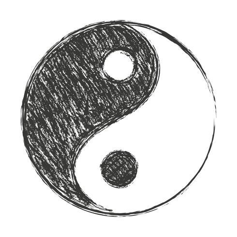 yin yang achtergrond vector