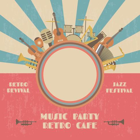 retor jazz concert poster vector