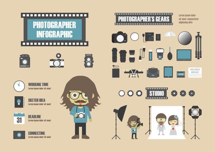 retro fotograaf infographic vector