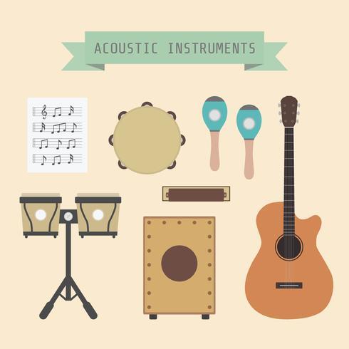 akoestisch muziekinstrument vector