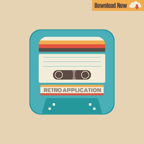 applicatie tape cassette vector