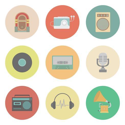 retro muziek pictogram vector