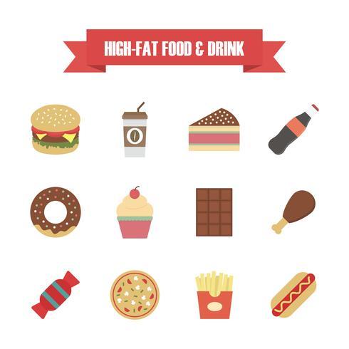 junk food pictogram vector