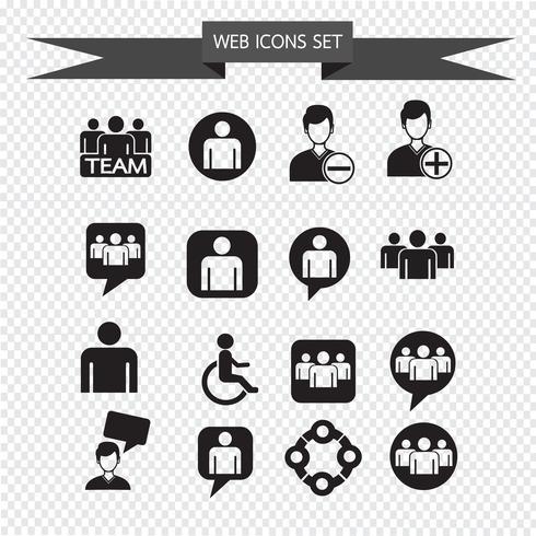 mensen icon set illustratie vector
