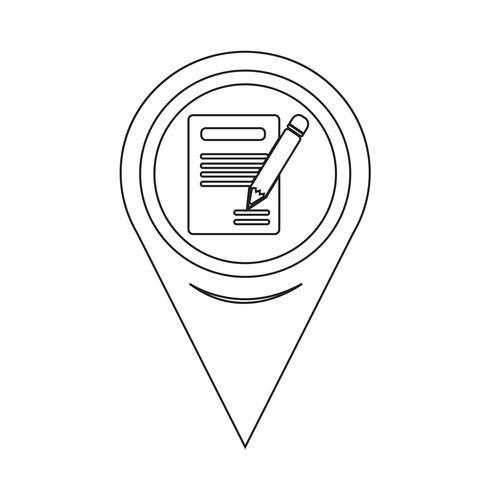 Aanwijzer potloodpictogram en notitieblokpictogram vector