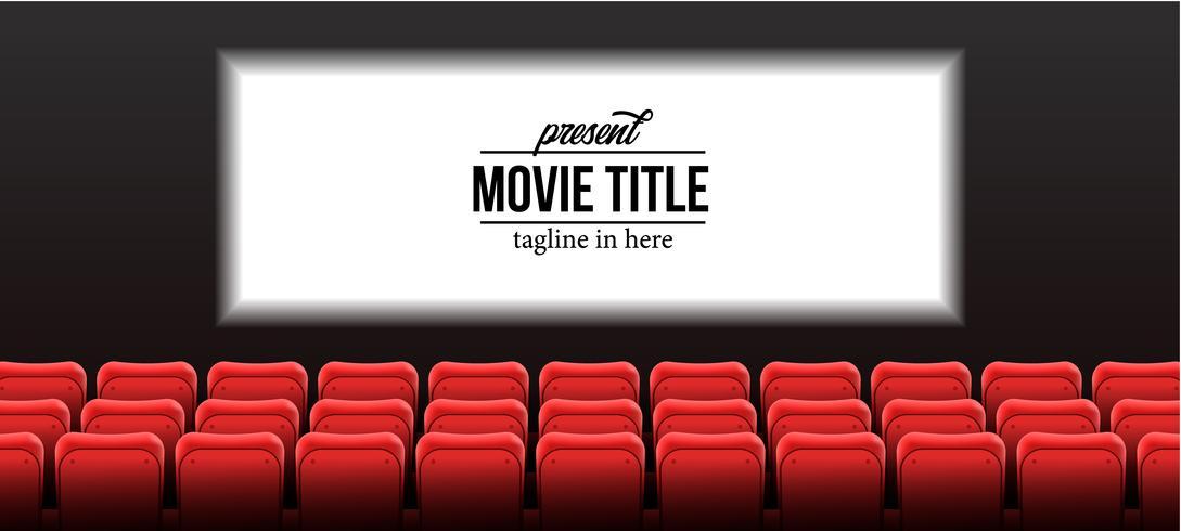 bioscoop met scherm vector