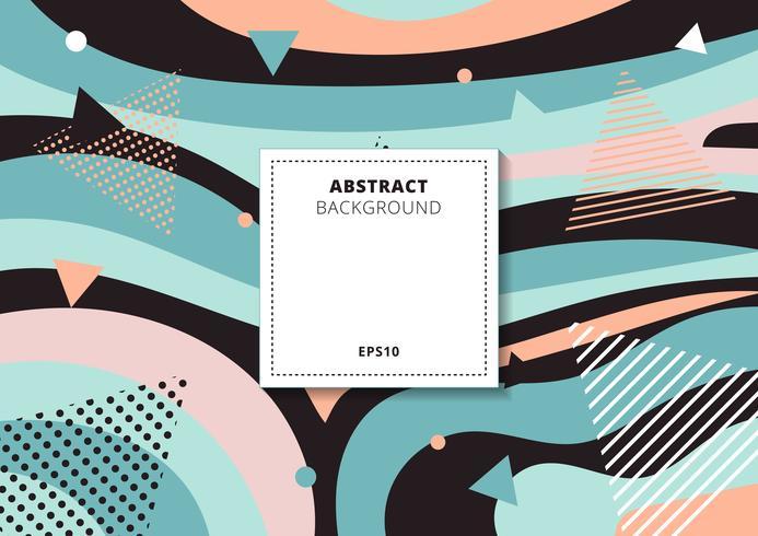 Abstracte creatieve kleurrijke veelkleurige achtergrond van het collage geometrische patroon. U kunt gebruiken voor afdrukken, posters, kaarten, brochure, bannerweb, enz. vector