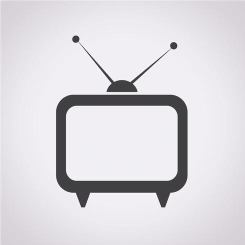 TV pictogram symbool teken vector