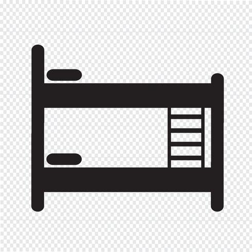 Bed pictogram symbool teken vector