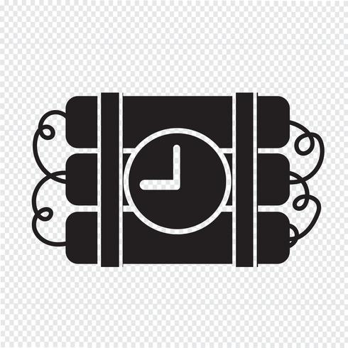 Bom pictogram symbool teken vector
