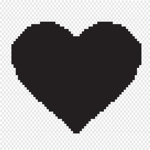 Hart pictogram symbool teken vector