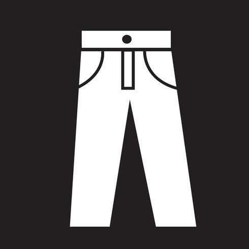 broek pictogram symbool teken vector