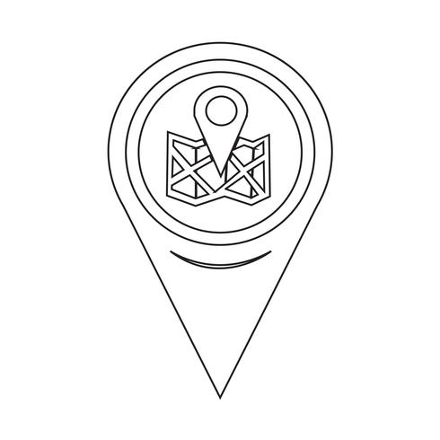 Kaartaanwijzer locatiepictogram vector
