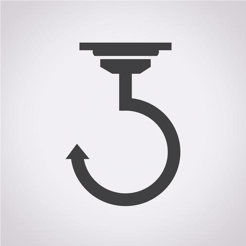 Haak pictogram symbool teken vector