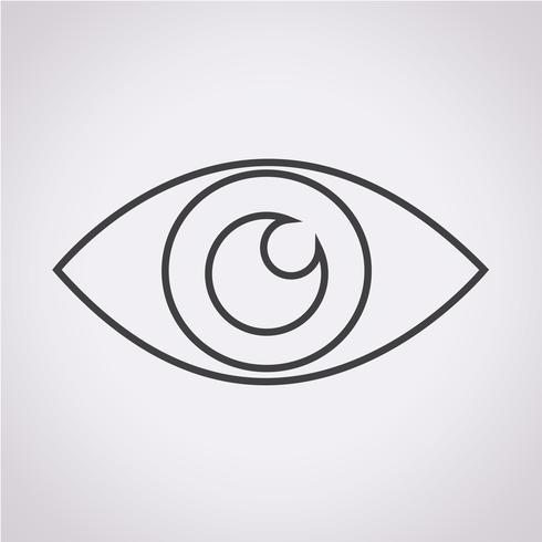 Bekijk pictogram symbool teken vector