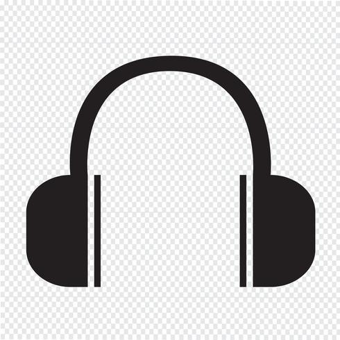 Hoofdtelefoon pictogram symbool teken vector
