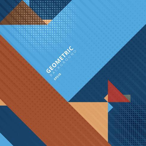 Abstracte sjabloon driehoeken geometrische vormen met halftoonpatroon textuur. vector