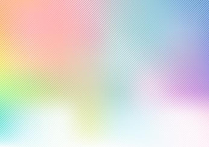 Abstracte regenboogpastelkleur vage zachte achtergrond met diagonale lijnentextuur. vector