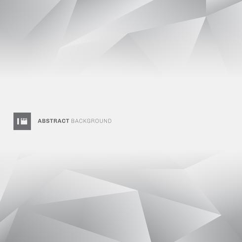 Abstracte grijze lage veelhoek trendy stijl met ruimte voor tekst. vector
