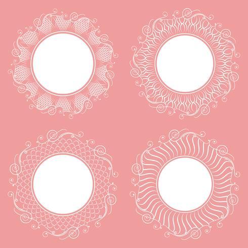 Verzameling van geïsoleerde witte servetten. Stijlvol ontwerp. vector