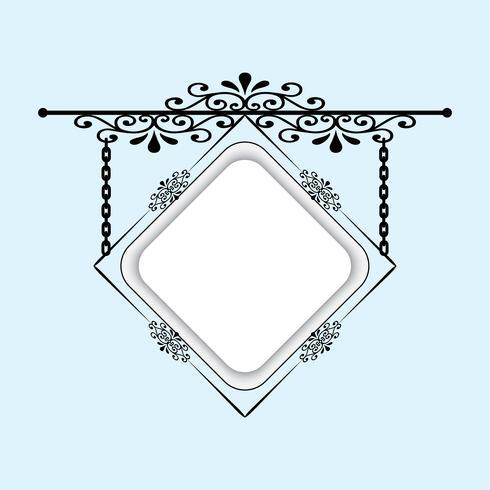 Een uithangbord voor het verfraaien van uw ideeën. Kan worden gebruikt als een frame, uithangbord. vector