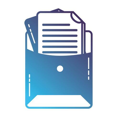silhouet bestandsmap met zakelijke documentinformatie vector